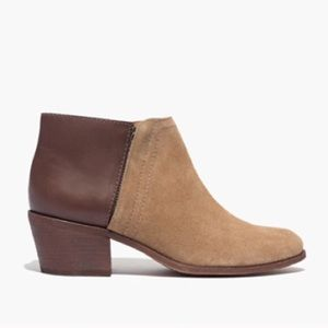 Madewell Cait Booties in Cigar